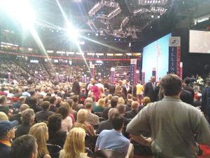 The view of the convention from the Illinois seats