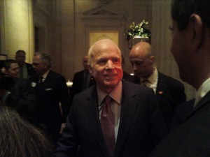 Senator McCain up close and as friendly as ever.